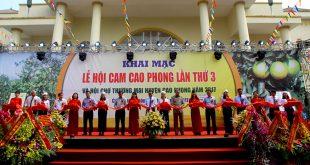 Khai mạc Lễ hội cam Cao Phong lần thứ 3